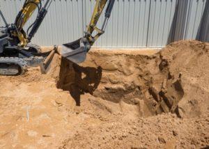 Pool Excavation narrow access