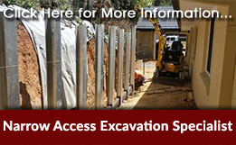 Narrow Access Excavation