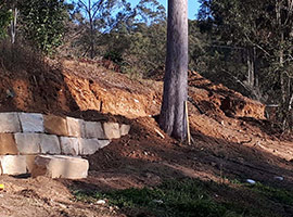 Sandstone Retaining Wall - Brisbane West