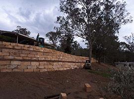 Sandstone Retaining Wall - Brisbane West